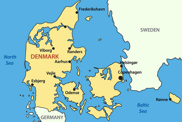 Kort over Danmark COLOURBOX1723444