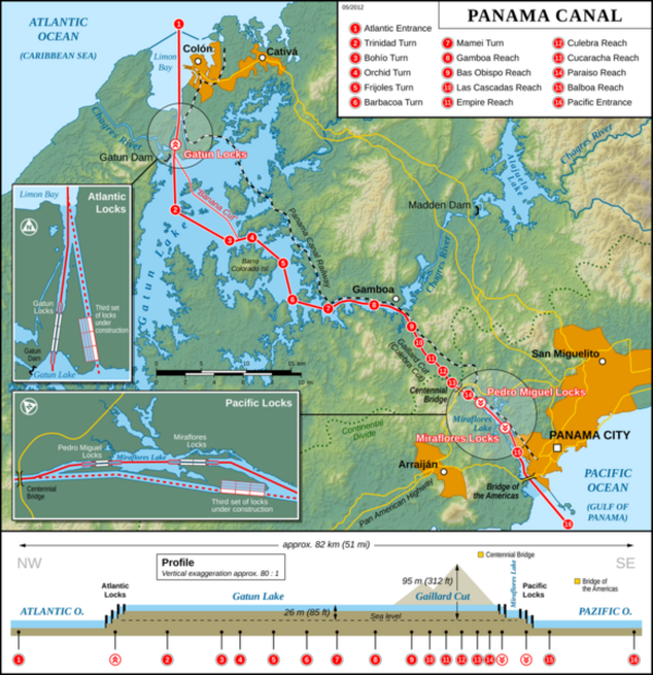 581px Panama Canal Map EN