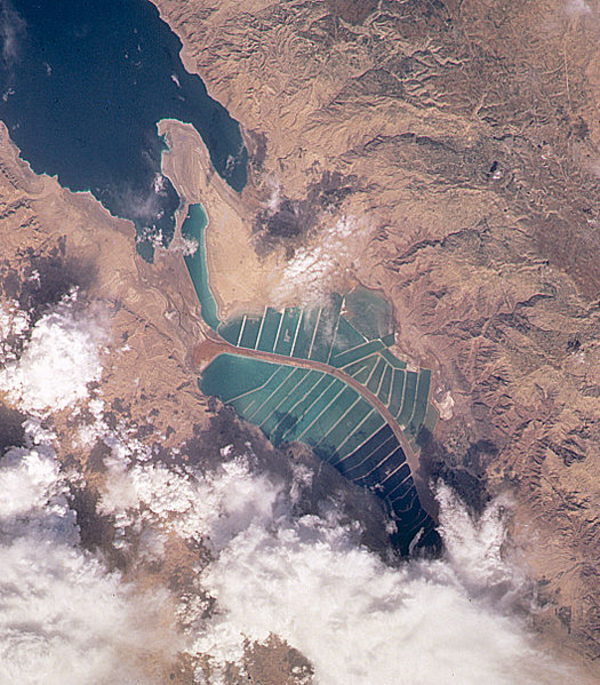 Dead Sea   Salt Evaporation Ponds