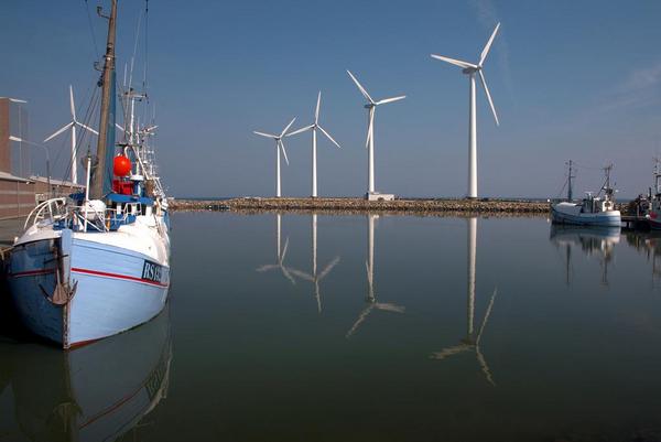 Vindmoeller havn   COLOURBOX1239123