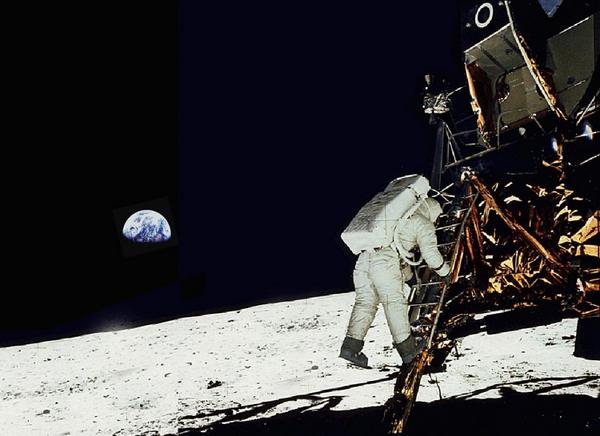 Aldrin paa Maanen   Foto NASA