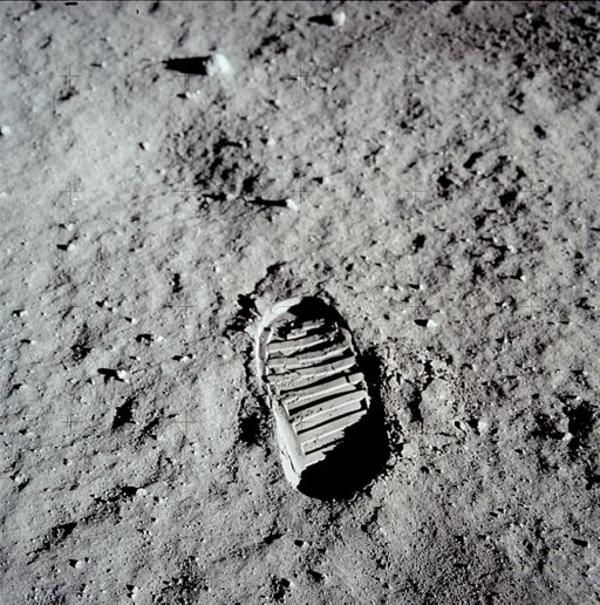 Aldrin Fodaftryk   Foto NASA