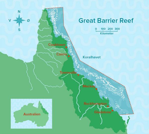 Great Barrier Reef - Undervisningsmateriale til geografi